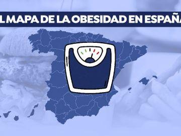 El mapa de la obesidad en España