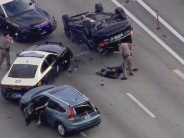 Cinco ladrones detenidos en Florida tras una persecución policial a toda velocidad por la autopista