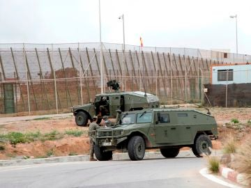 Despliegue del ejército en la valla de Melilla