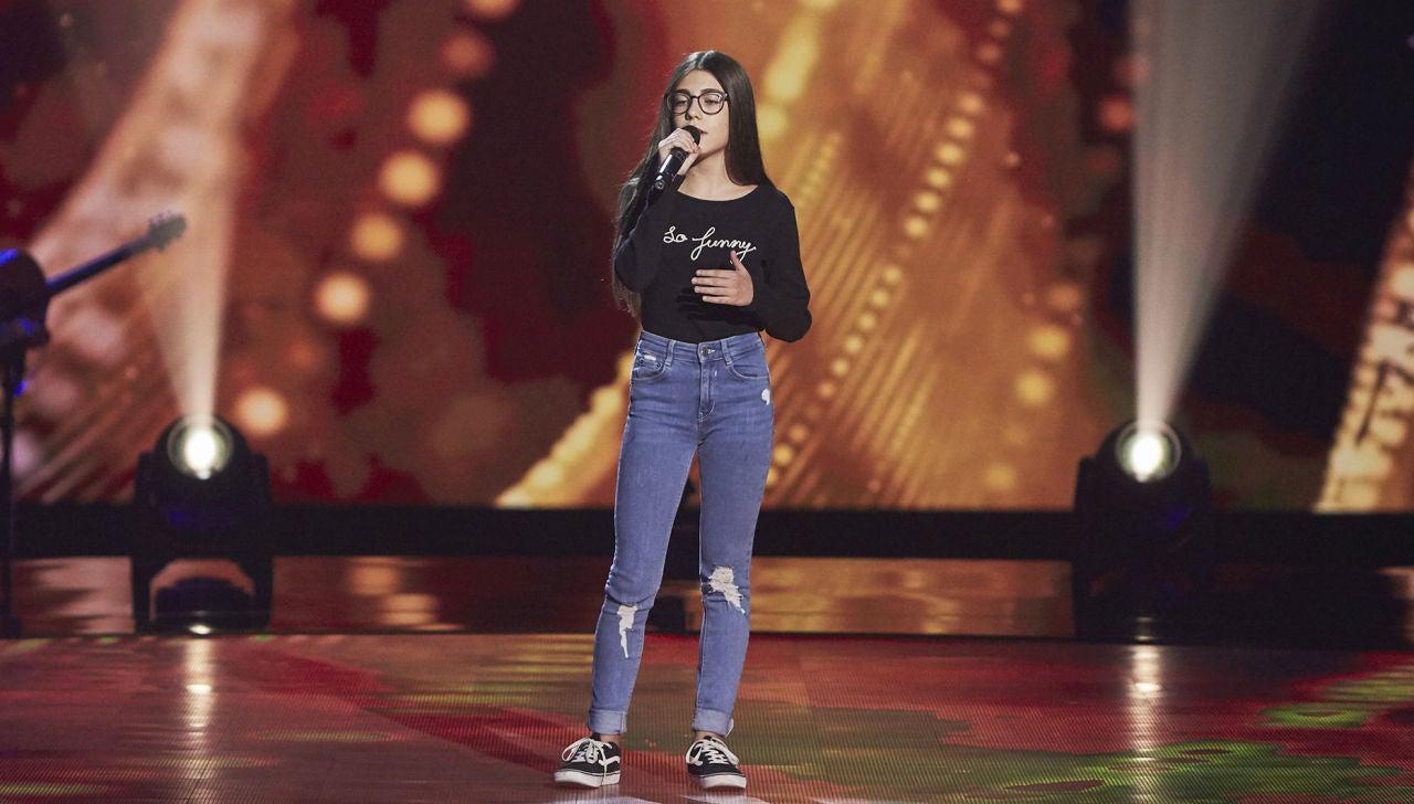 Nora Fayos canta 'Idontwannabeyouanymore' en las Audiciones a ciegas de 'La Voz Kids'