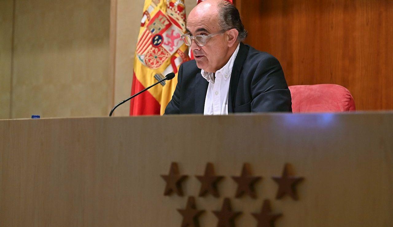 El viceconsejero Salud Publica y Plan COVID -19, Antonio Zapatero