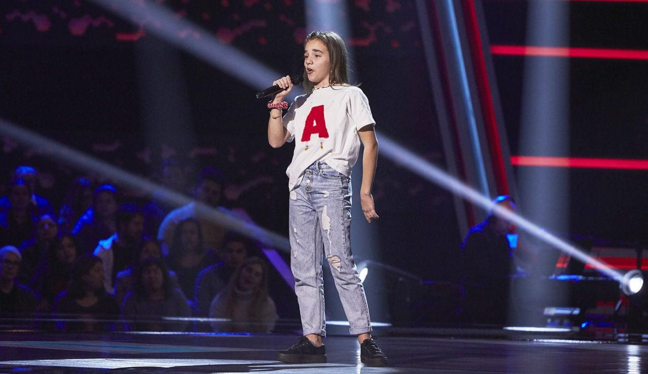 Ana Rodríguez-Quintana canta 'Ex's and oh's' en las Audiciones a ciegas de 'La Voz Kids'