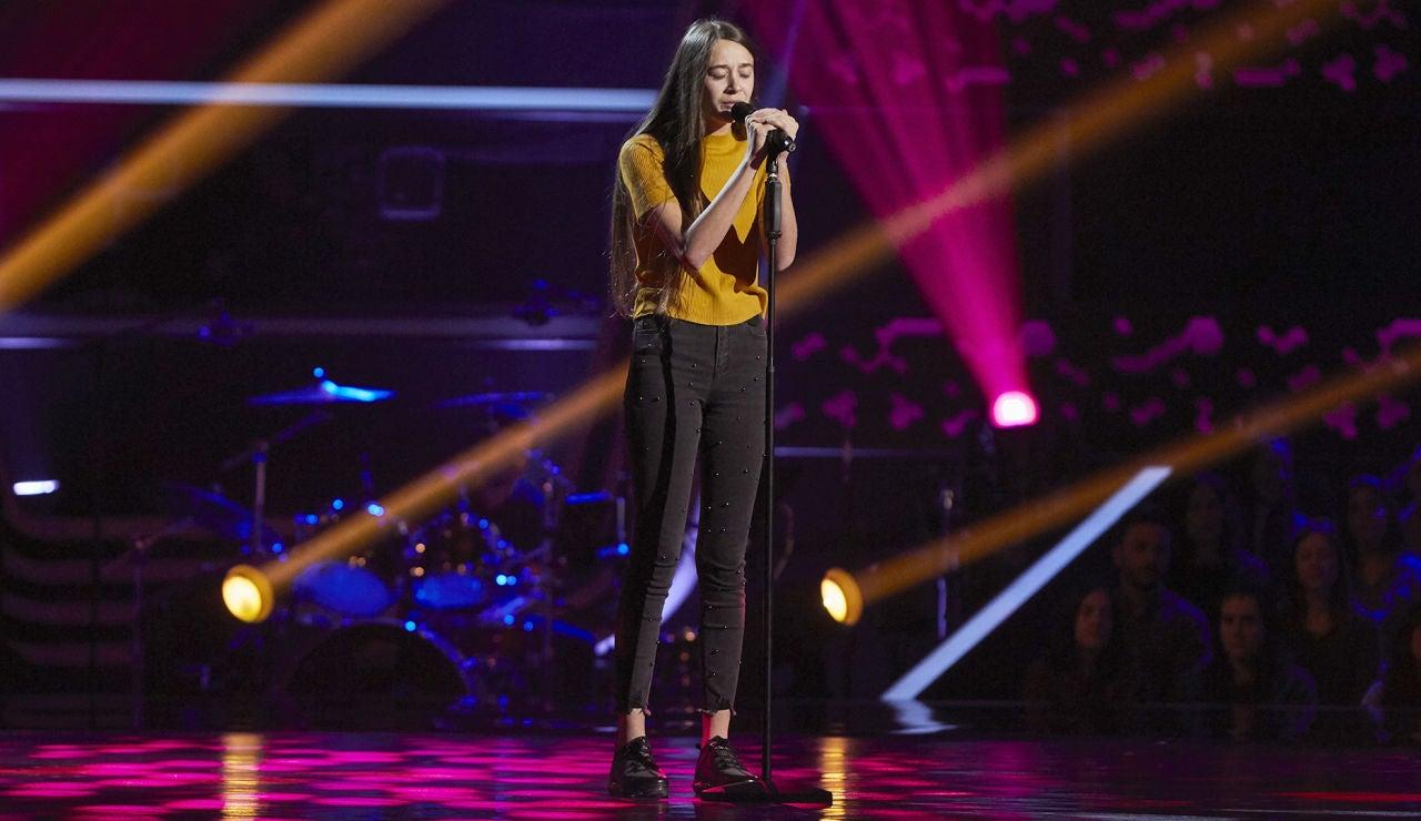 María López canta 'La habitación' en las Audiciones a ciegas de 'La Voz Kids'