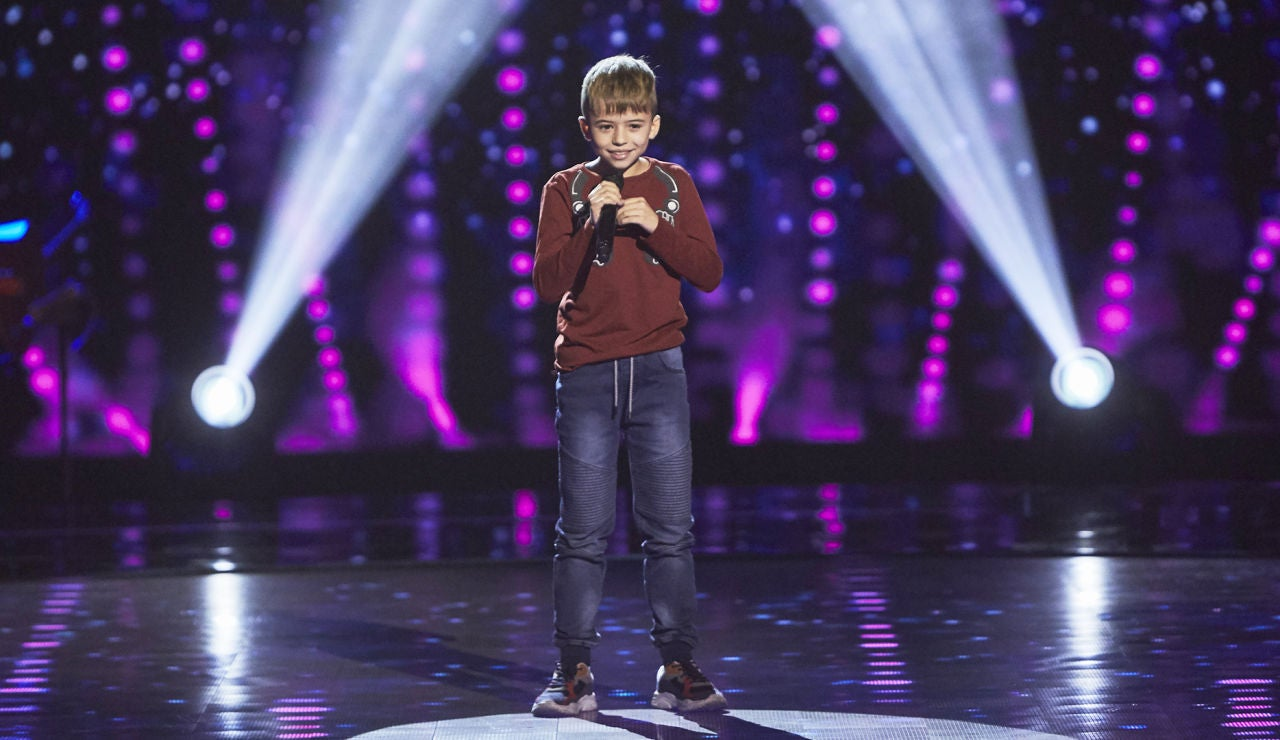 Jesús Civera canta 'Como mirarte' en las Audiciones a ciegas de 'La Voz Kids'