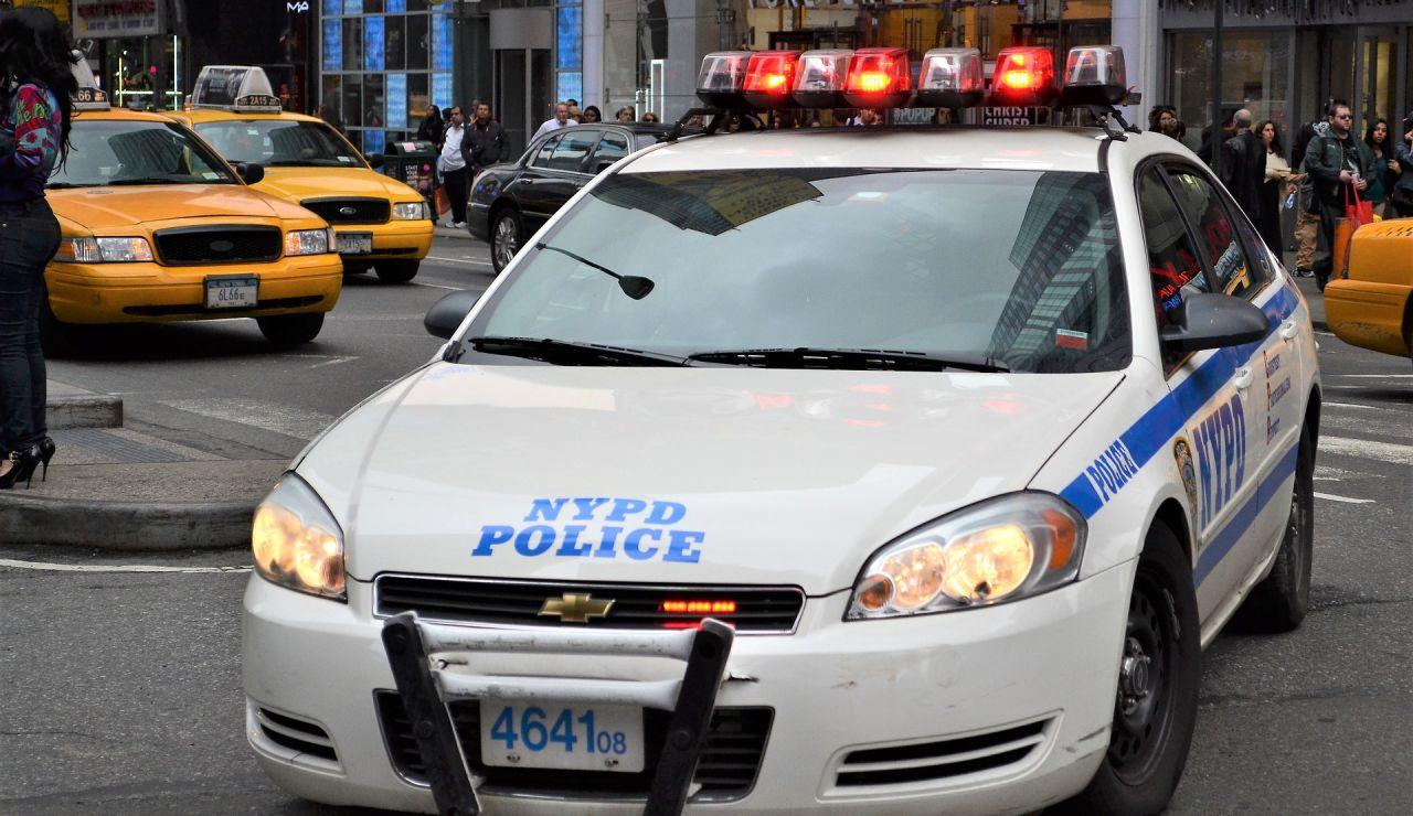 Coche de policía en Estados Unidos