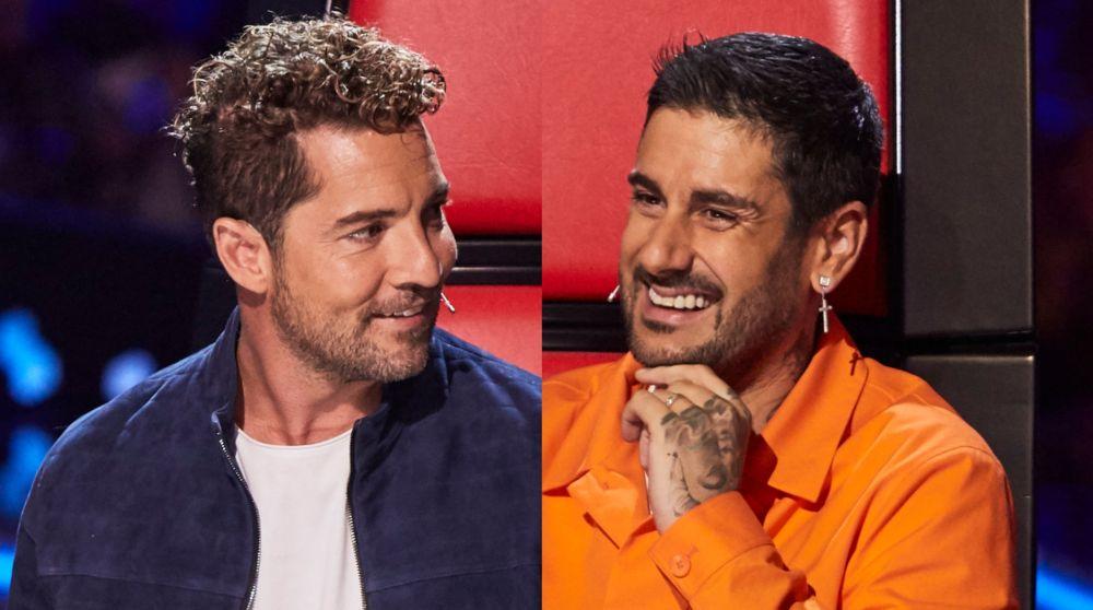 David Bisbal y Melendi en las Audiciones a ciegas de 'La Voz Kids'