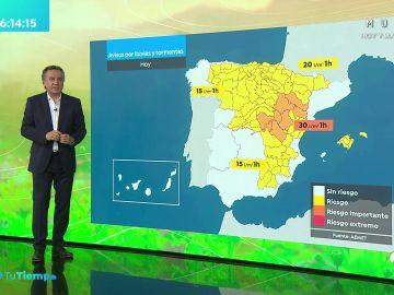La previsión del tiempo hoy: Se esperan lluvias fuertes en el cuadrante noreste peninsular con descenso térmico