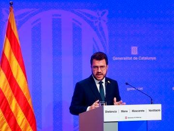 Pere Aragonés, presidente de la Generalitat
