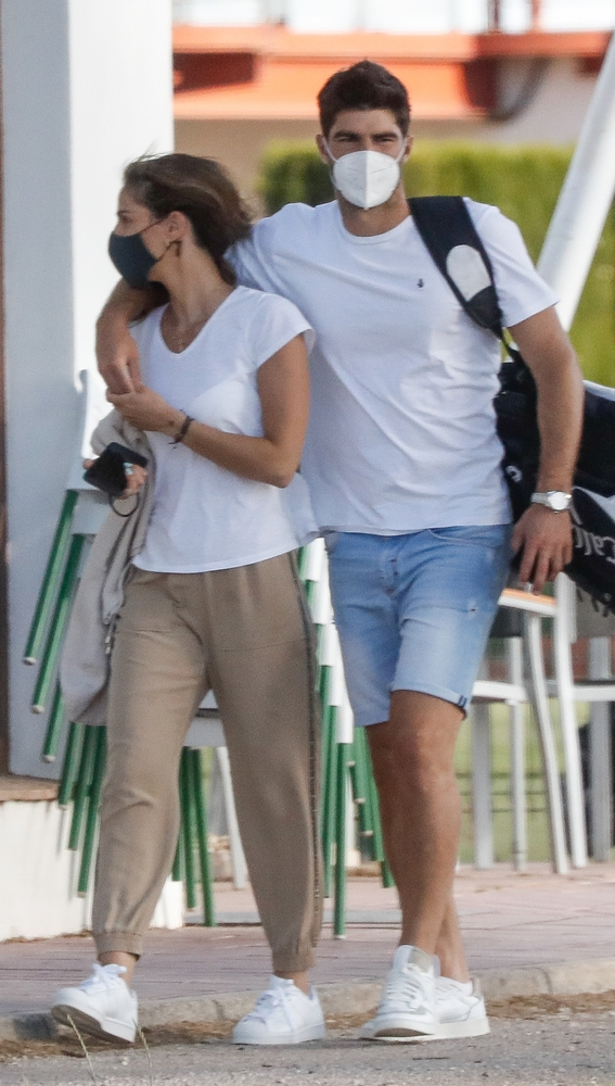 Lucía Villalón y su novio Gonzalo Melero