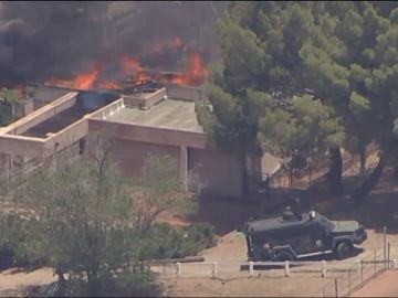 Imagen de la casa del sospechoso del tiroteo en Los Ángeles