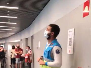 Sanitario del SUMMA 112 que se ha viralizado por su discurso divertido y sensato