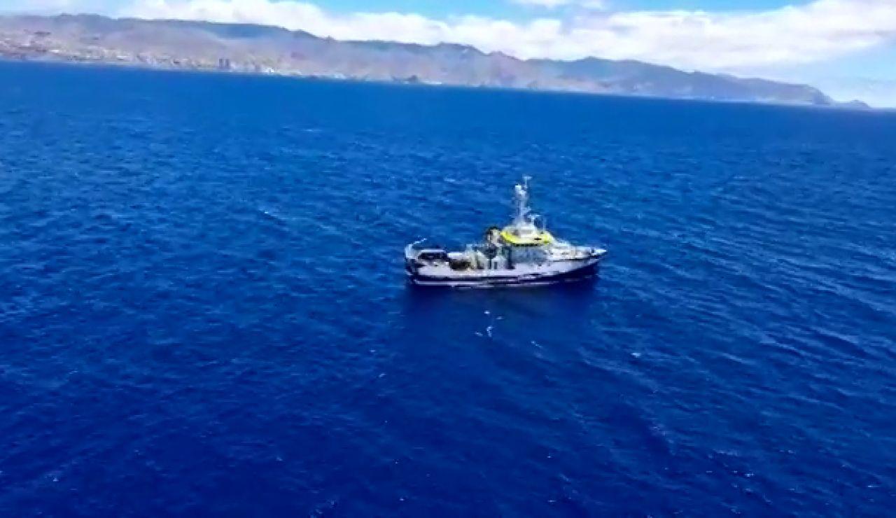 El fondo rocoso y la basura dificultan la búsqueda del buque Ángeles Alvariño en el caso de las niñas desaparecidas en Tenerife