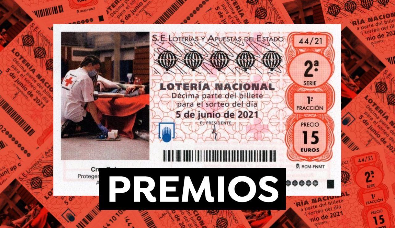 Premios del Sorteo Extraordinario de la Cruz Roja de Lotería Nacional 2021