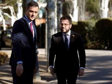 Sánchez y Aragonès en una imagen de archivo