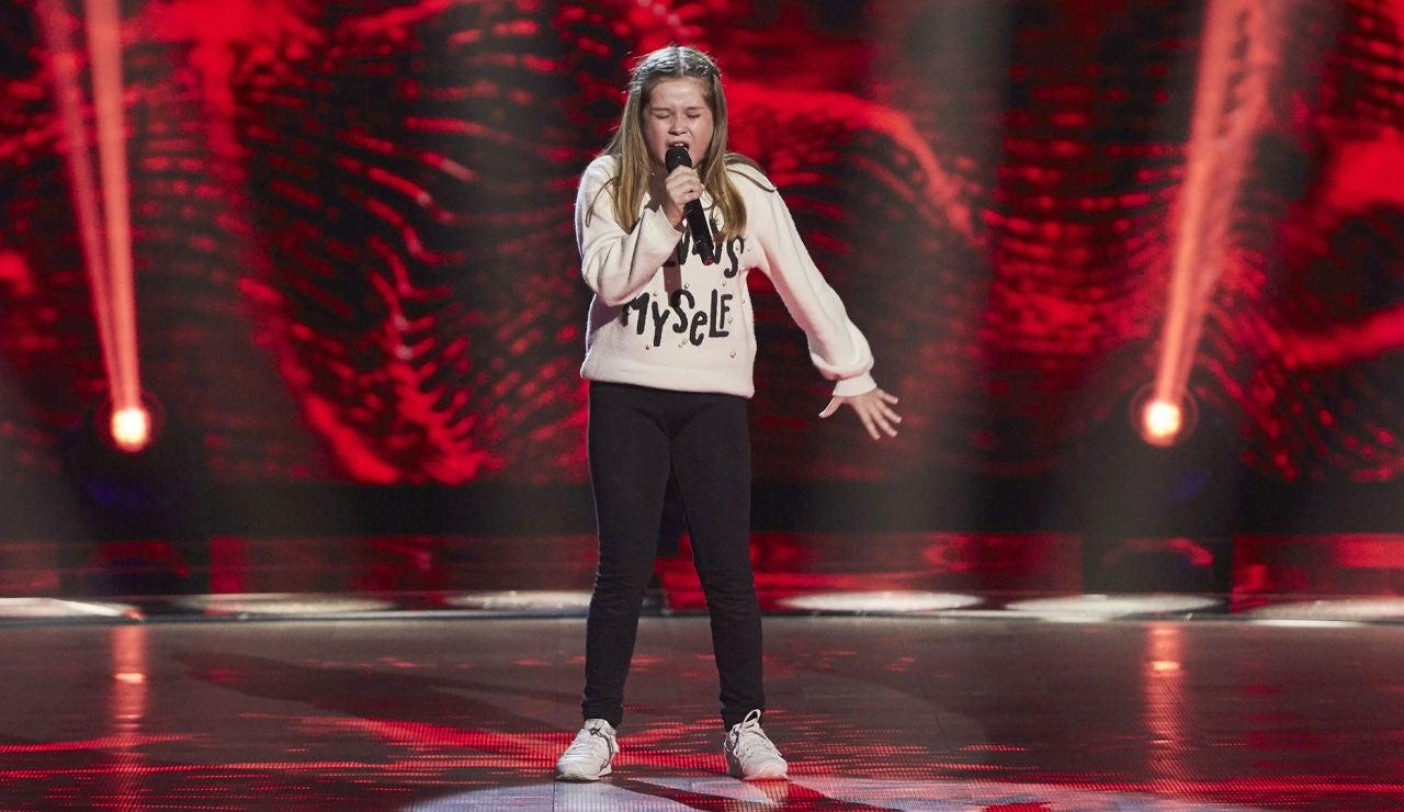 Pilar Sánchez canta 'Corazón hambriento' en las Audiciones a ciegas de 'La Voz Kids'