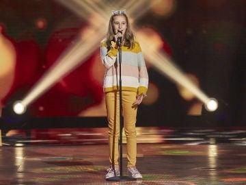Luna di Maio canta 'La solitudine' en las Audiciones a ciegas de 'La Voz Kids'