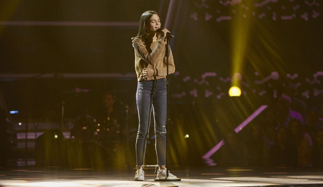 Carla Aucejo canta 'Con las ganas' en las Audiciones a ciegas de 'La Voz Kids'
