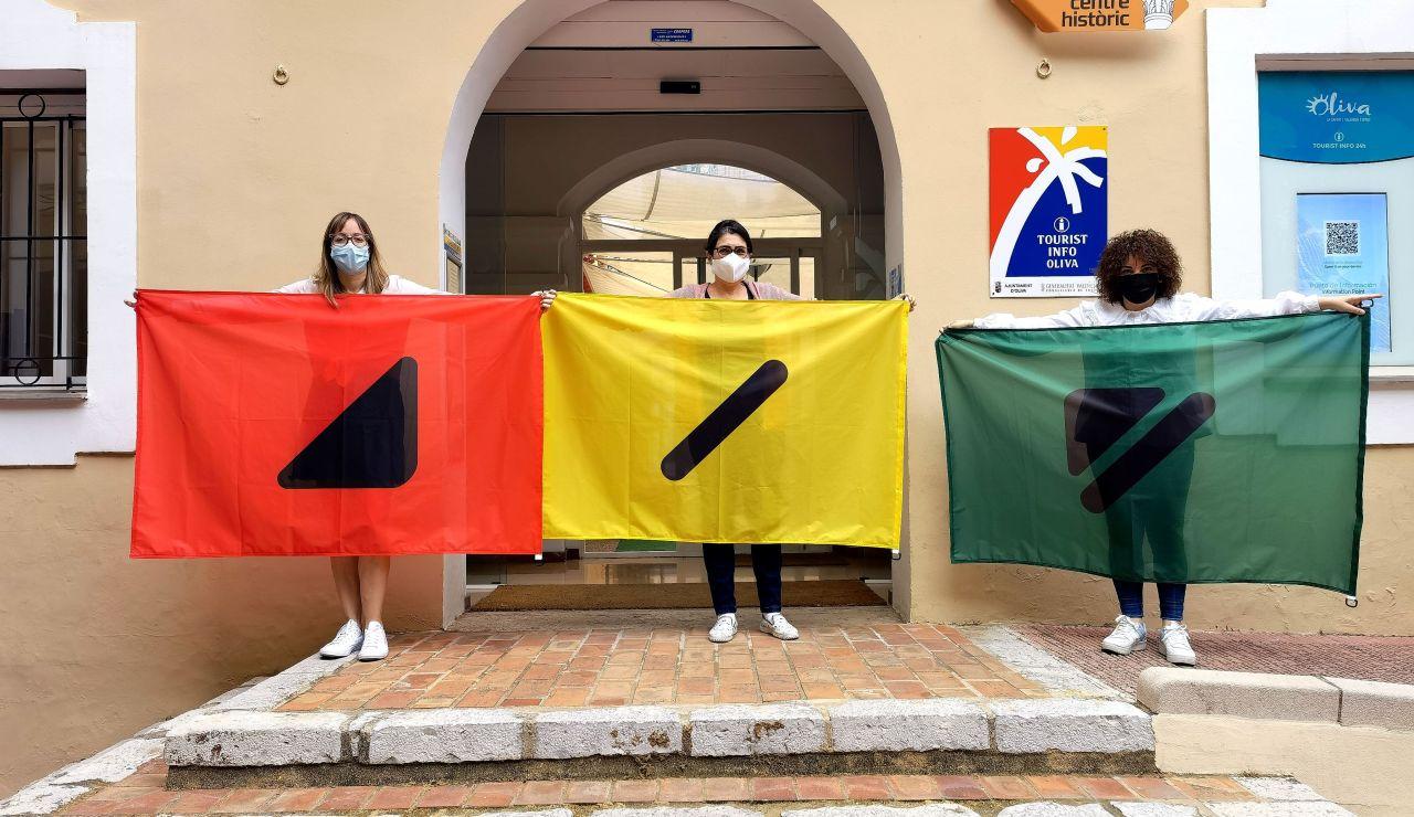 Banderas playas daltónicos