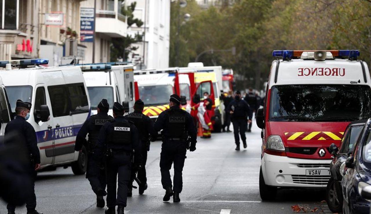 Imágenes de archivo de la policía y los bomberos franceses