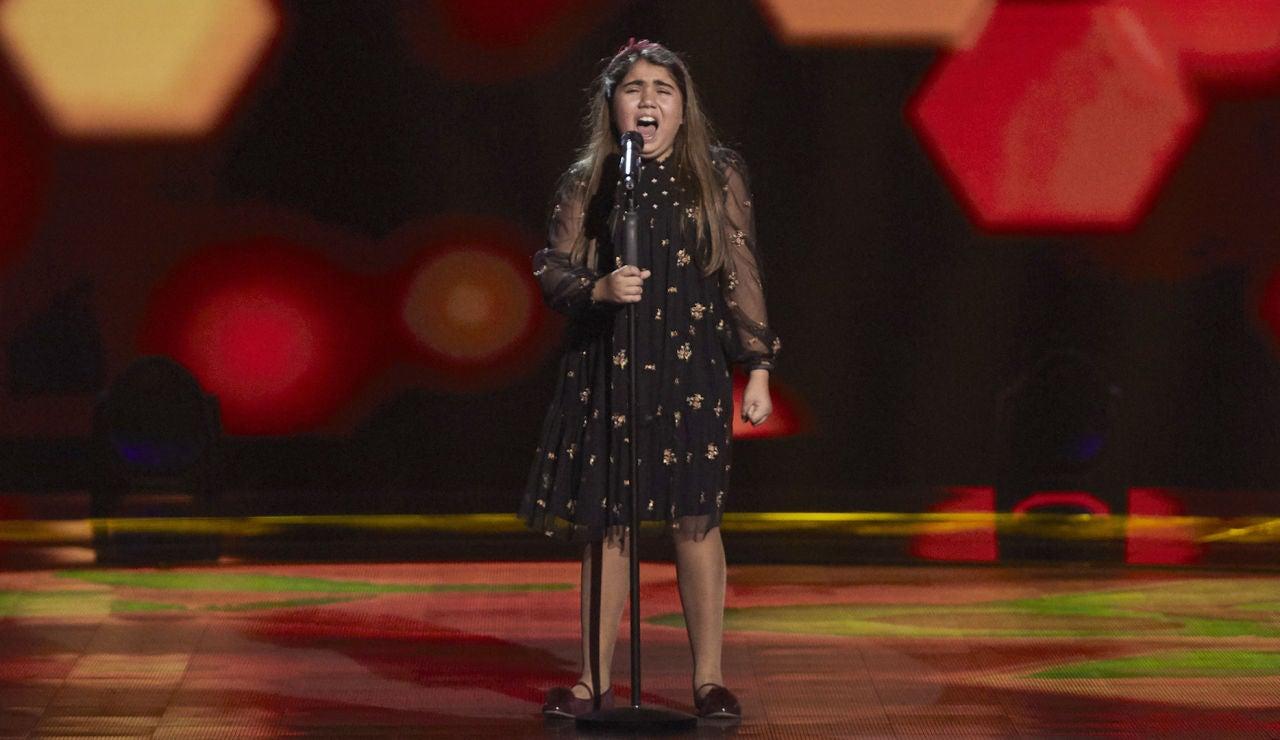 Sara Vidal canta 'Torre de arena' en las Audiciones  a ciegas  de 'La Voz Kids'
