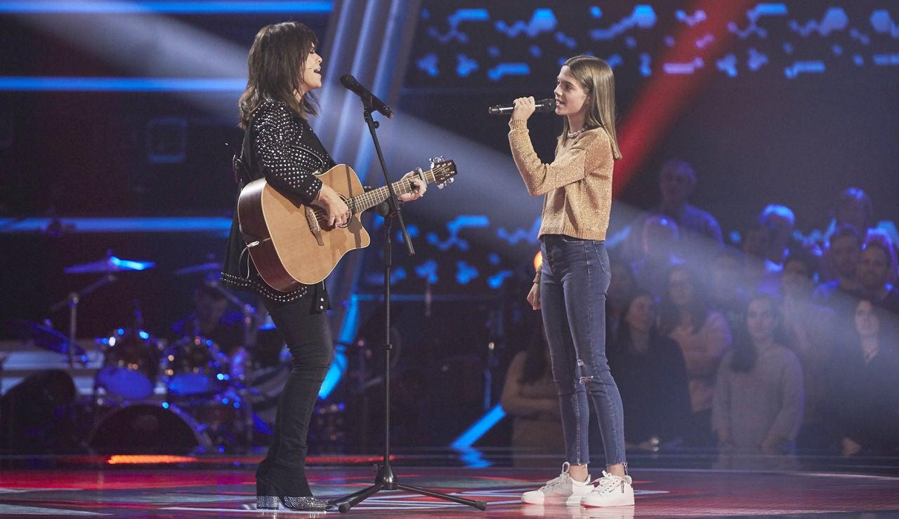 Vanesa Martín y Carla Aucejo brillan con una bonita versión improvisada de 'Complicidad' en 'La Voz Kids'