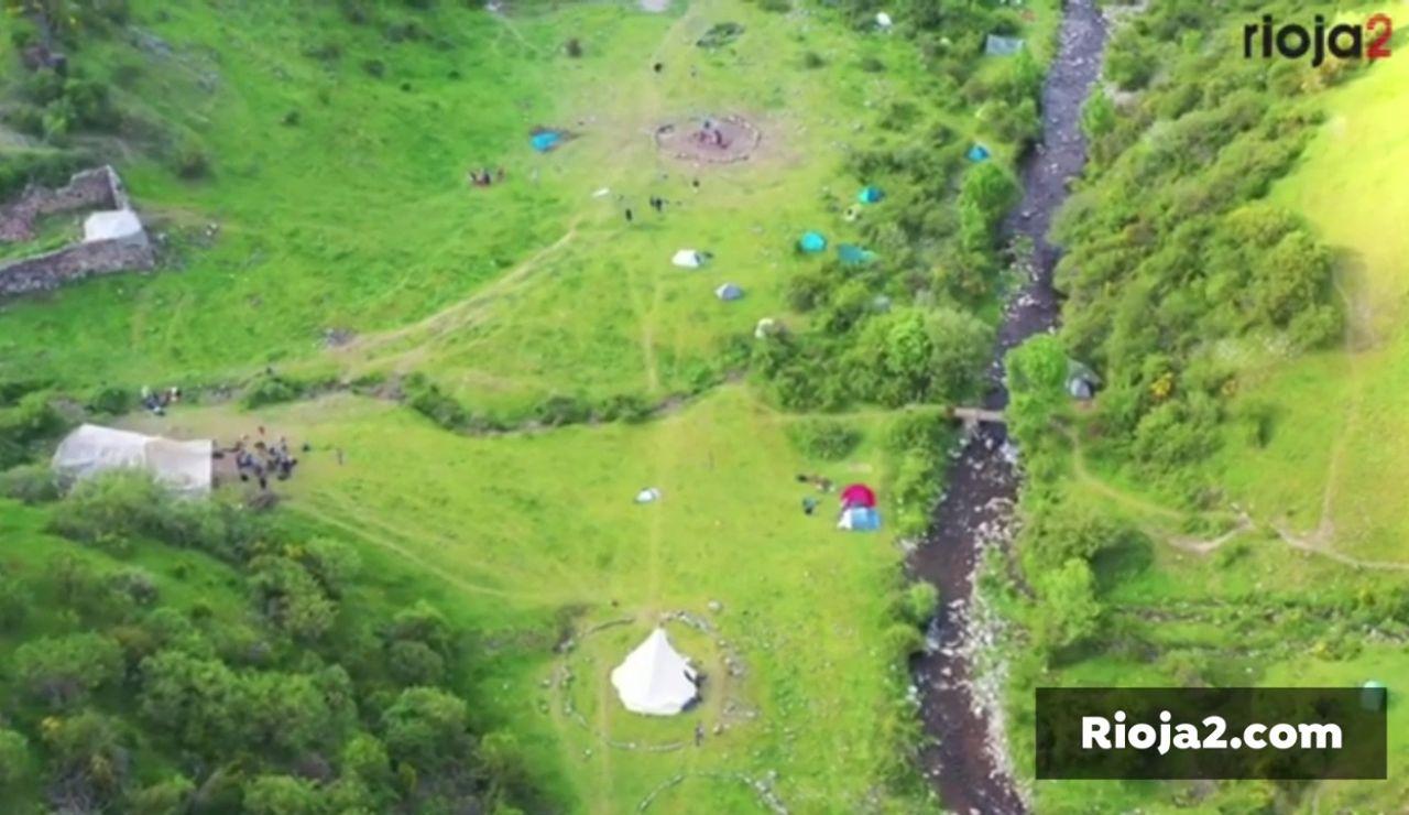 El Gobierno de La Rioja estudia desalojar un campamento hippie de unas 200 personas