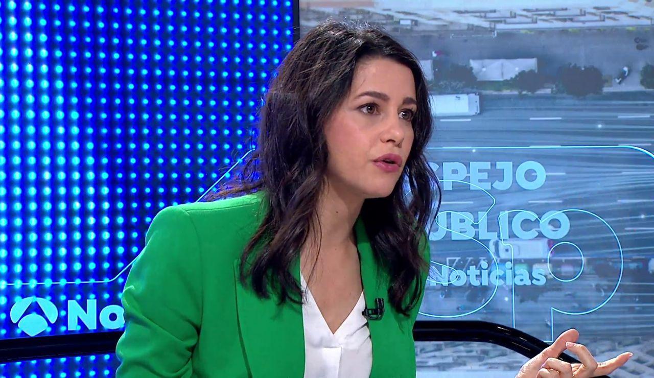 """Inés Arrimadas dice que los indultos son """"un insulto y una humillación para los que nos hemos partido por Cataluña"""""""