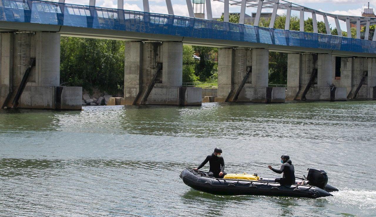 Dispositivo de búsqueda de un menor desaparecido en el río Ebro