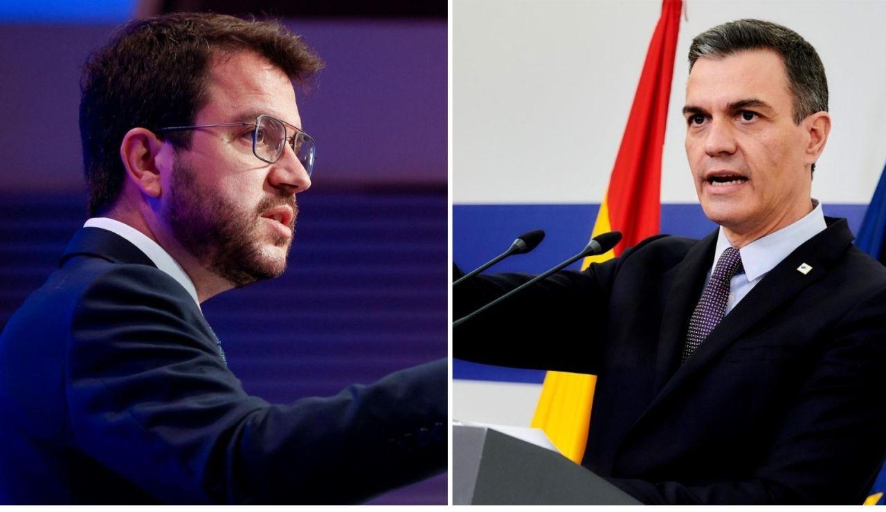 Pedro Sánchez y Pere Aragonés cierran por teléfono un encuentro en Moncloa para este mes de junio
