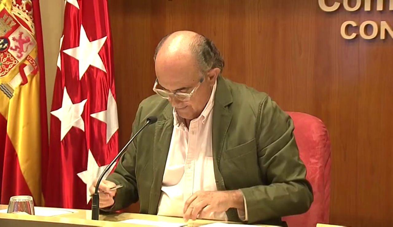 Así ha sido la comparecencia de Antonio Zapatero para anunciar nuevas restricciones en Madrid, en vídeo