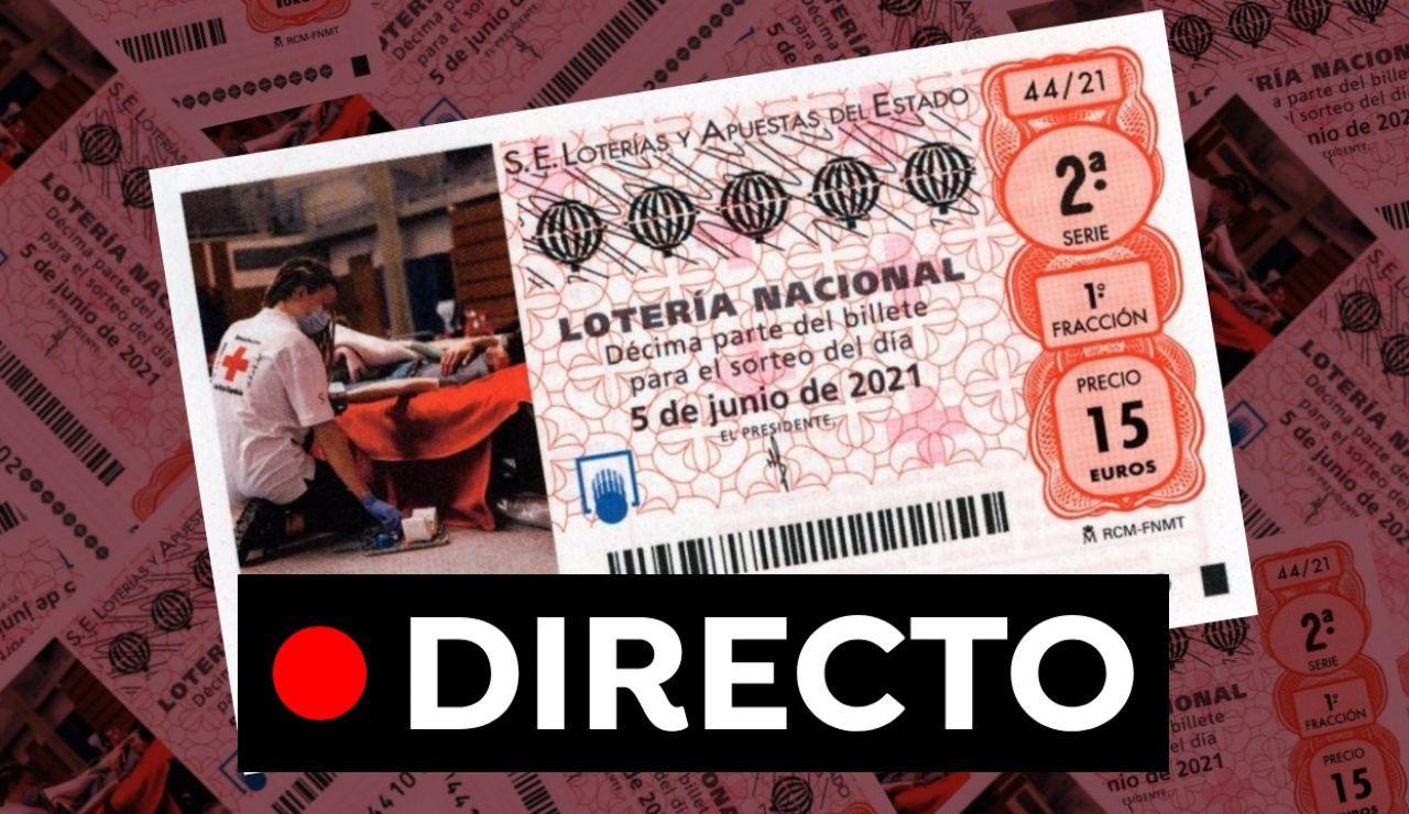 Lotería Nacional: Sorteo Extraordinario de la Cruz Roja hoy, en directo