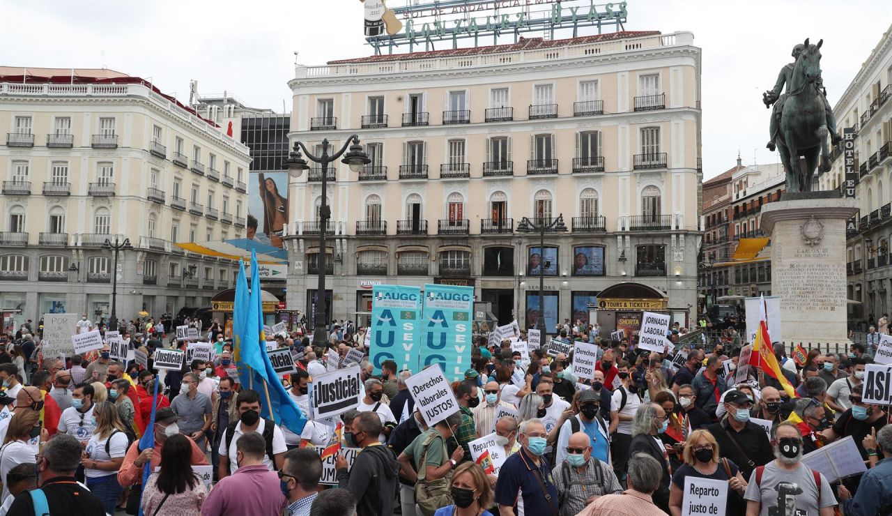 Agentes de la Guardia Civil de toda España se manifiestan para pedir la mejora de sus condiciones laborales