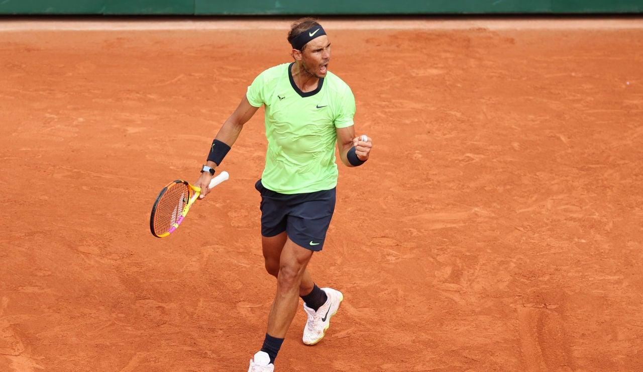 Rafa Nadal se mete en octavos de final de Roland Garros