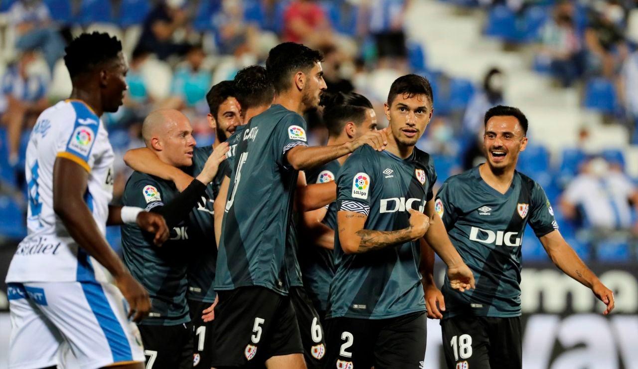 El Rayo Vallecano se impone en Butarque y se jugará el ascenso a Primera con el Girona