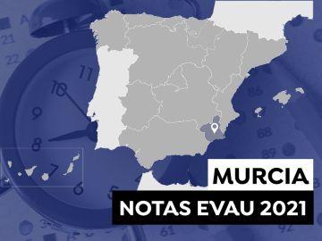 Notas Evau 2021 en Murcia: Consultar los resultados de selectividad