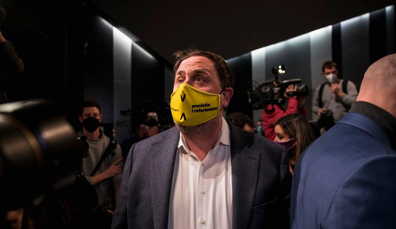 Oriol Junqueras, durante un acto de campaña