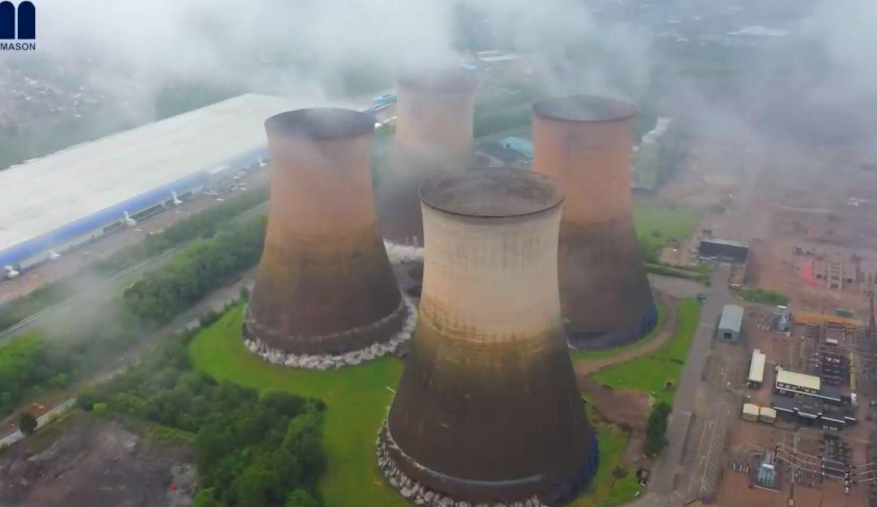 Demolición de centrales térmicas