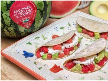 Tacos de sandía Bouquet, una receta sencilla y ligera