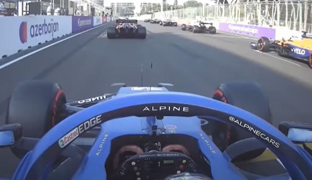 Fernando Alonso y su resalida en el GP de Azerbaiyán