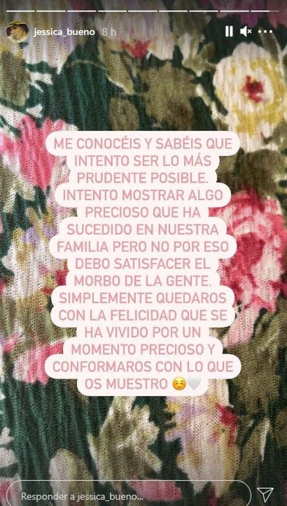El mensaje de Jessica Bueno