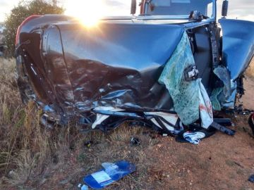 Imagen del accidente ocurrido en La Antigua, León