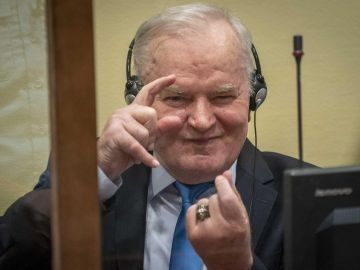 El exgeneral serbobosnio Ratko Mladic,