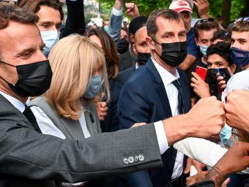 Emmanuel Macron, en un acto electoral