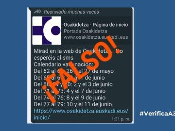 Bulo sobre el calendario de vacunación en Euskadi.