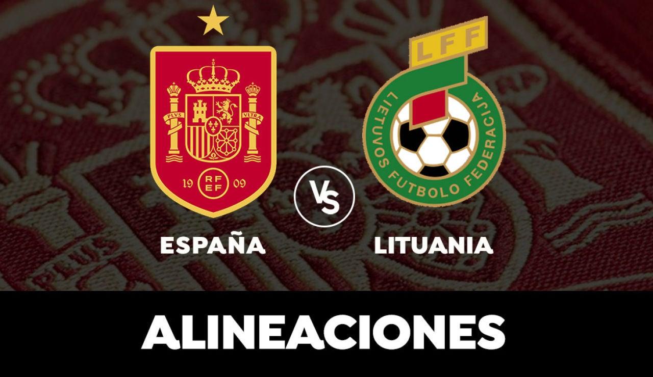 España - Lituania: Alineaciones del partido previo a la Eurocopa
