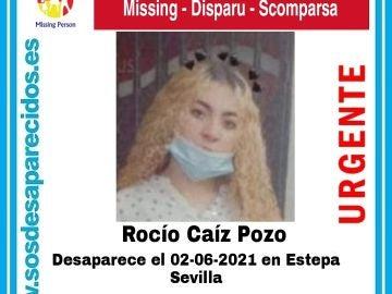 Imagen de la desaparecida publicada por la cuenta @sosdesaparecido en Twitter.