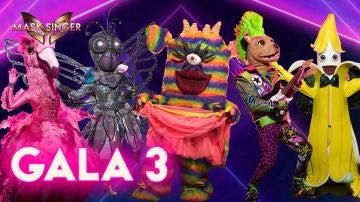 Las cinco últimas nuevas máscaras se enfrentan en la tercera gala de 'Mask Singer'