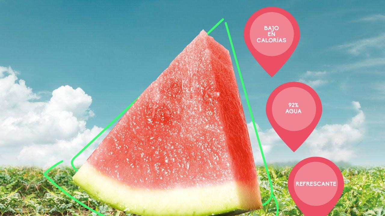 Las propiedades nutricionales de la sandía