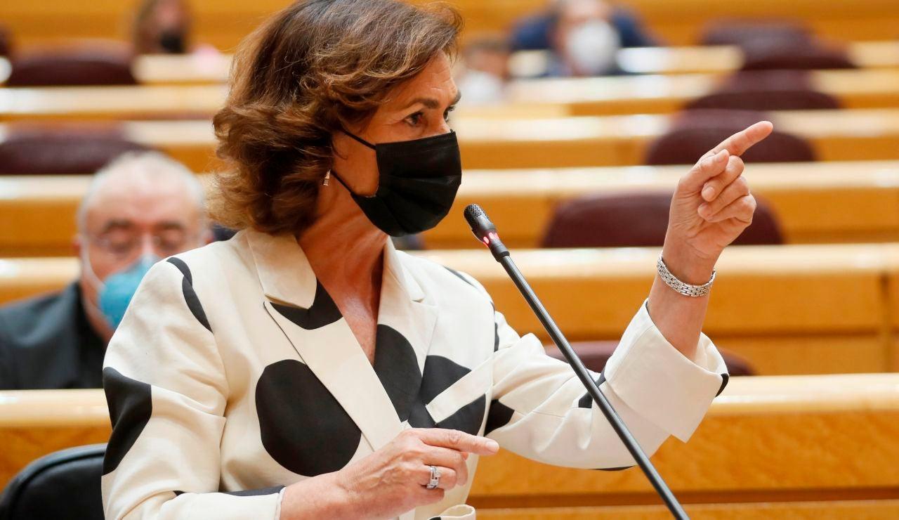 Carmen Calvo en el Senado