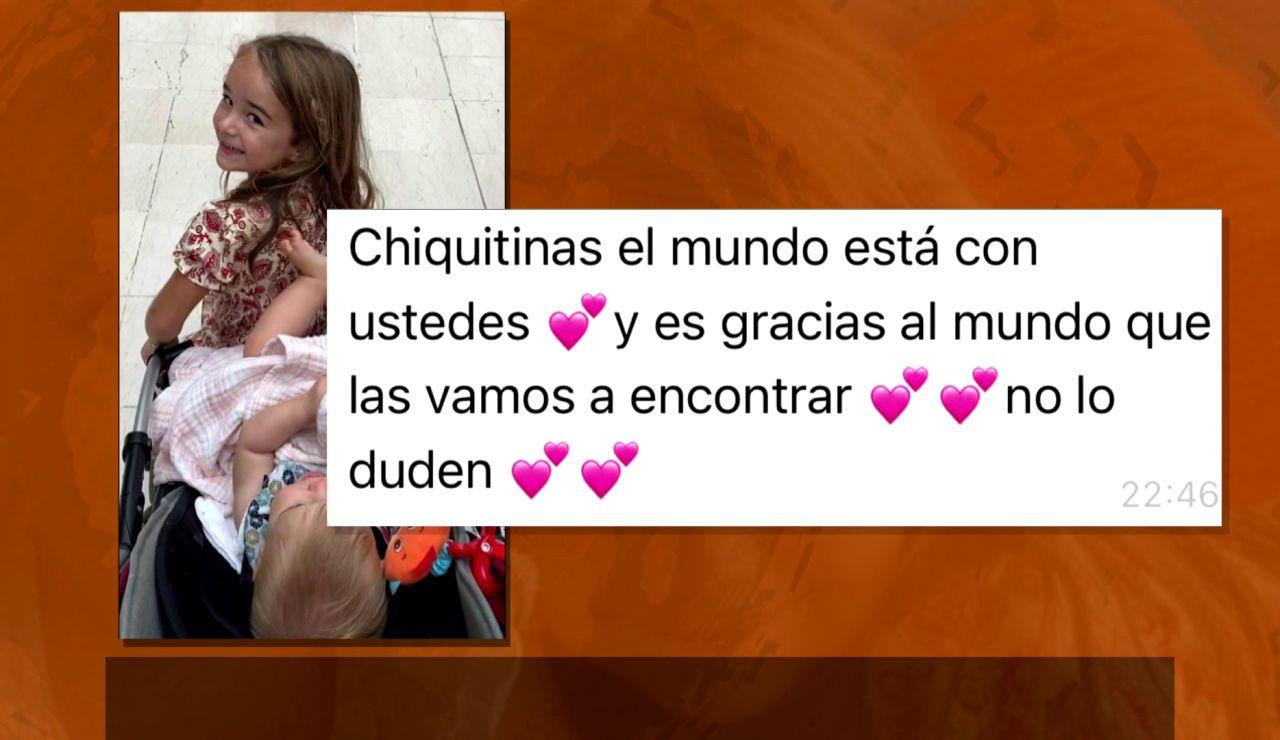 """Nuevo mensaje de la madre de las niñas desparecidas en Tenerife: """"Chiquitinas, las vamos a encontrar"""""""